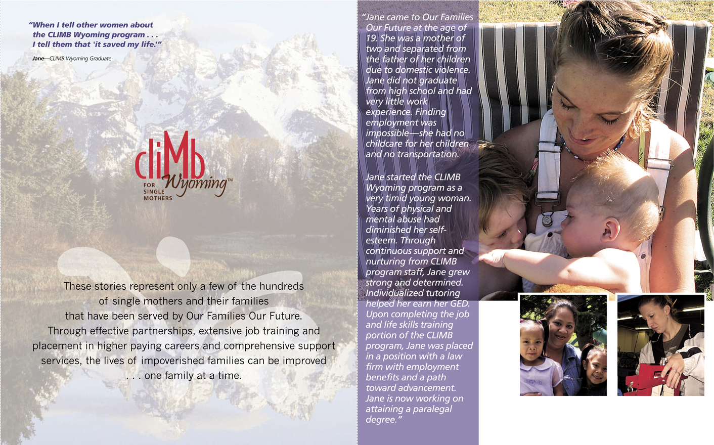 Annual Report Design / Development - Our Families Our Future Wyoming