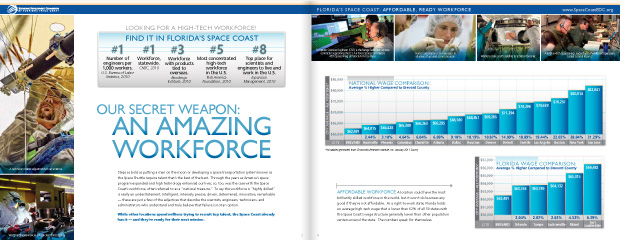 Economic Development Commission Florida's Space Coast: Brochure Design 3