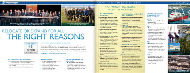 Economic Development Commission Florida's Space Coast: Brochure Design 5