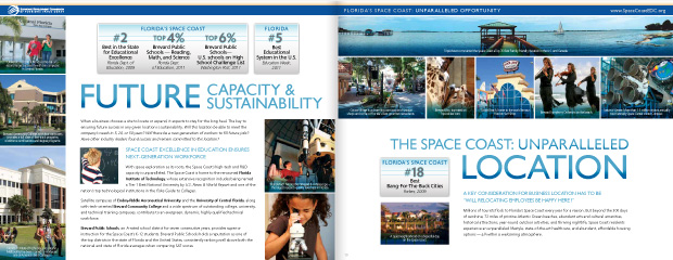 Economic Development Commission Florida's Space Coast: Brochure Design 6