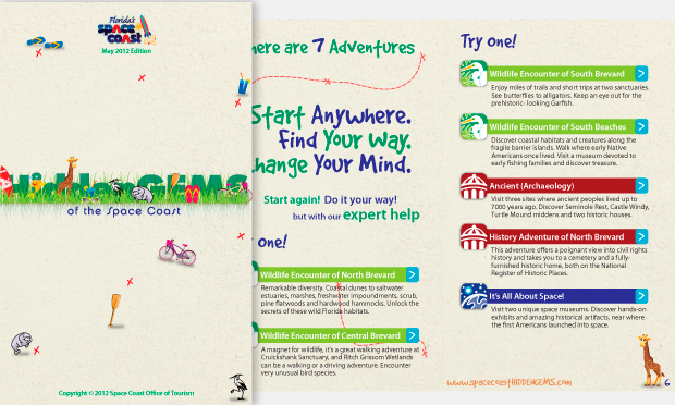 Space Coast Hidden Gems Outreach Creative campaign sample Booklet