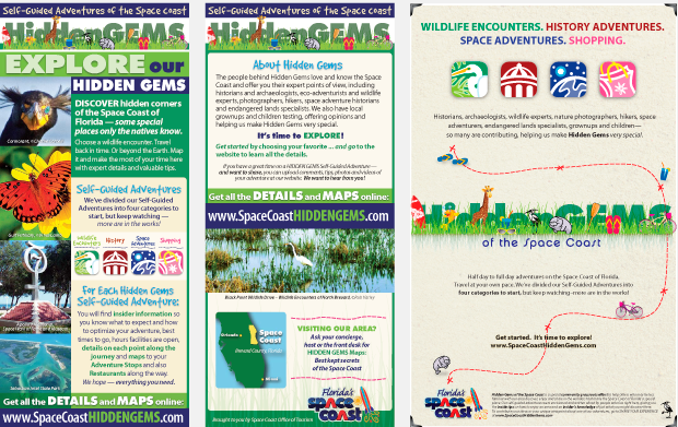 Space Coast Hidden Gems Collateral Design Sample
