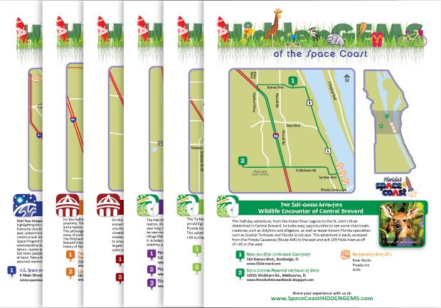 Space Coast Hidden Gems Hotel Outreach Creative campaign handouts
