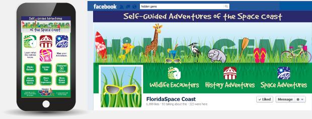 Space Coast Hidden Gems social media profile and mobile website version