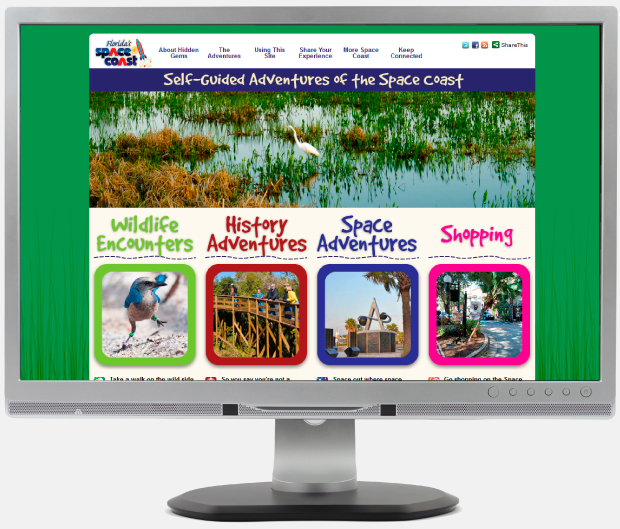 Hidden Gems of Space Coast Website Sample
