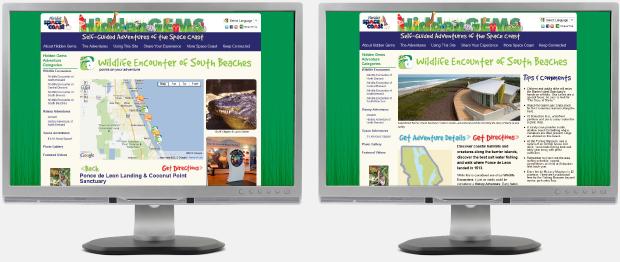 Hidden Gems of Space Coast Website Design / Development / WordPress