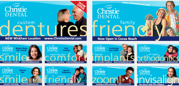 Christie Dental Portfolio Outdoor Billboard Campaign