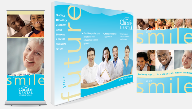 Christie Dental Portfolio Tradeshow Display Design