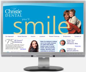Christie Dental Portfolio Website Design