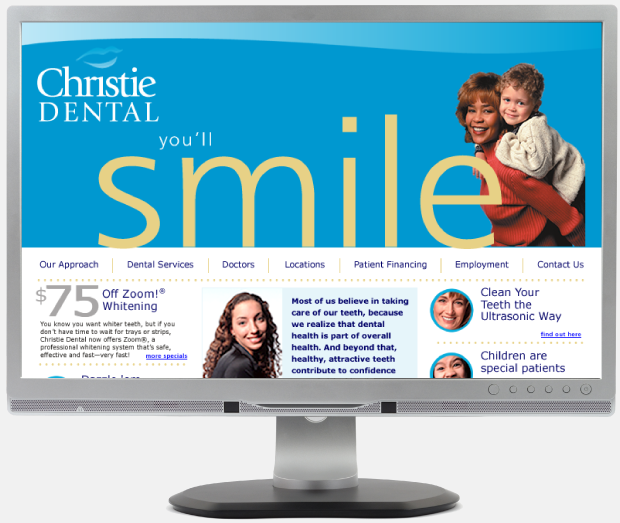 Christie Dental Portfolio Website Design