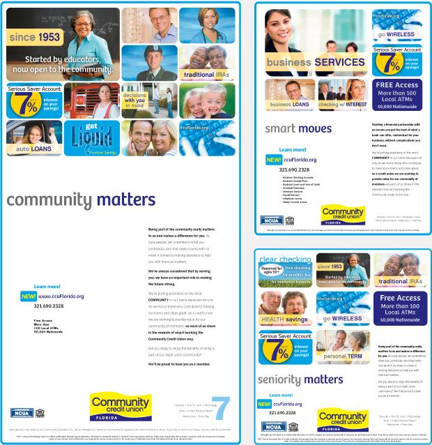 Print Advertising Campaign Design - Community Credit Union Florida