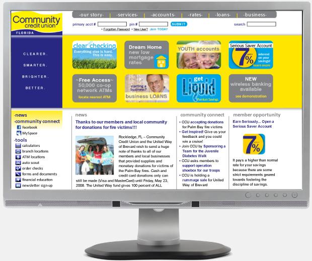 Website Design - Community Credit Union Florida