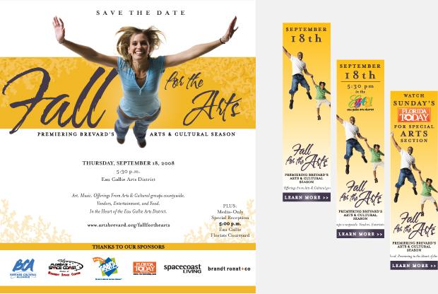 Print Ad Campaign Development - Fall for the Arts / Brevard Cultural Alliance