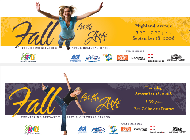 Newspaper Ad Campaign Development - Fall for the Arts / Brevard Cultural Alliance