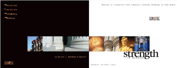 Annual Report 2001 CD rom Design / Development - IDB IIC Federal Credit Union