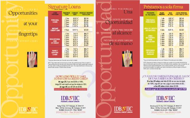 Collateral Design / Development - IDB IIC Federal Credit Union