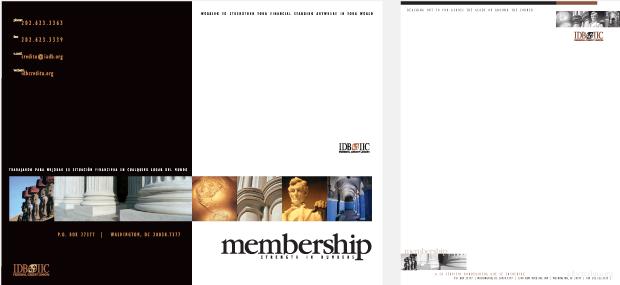 Membership Collateral Design / Development - IDB IIC Federal Credit Union
