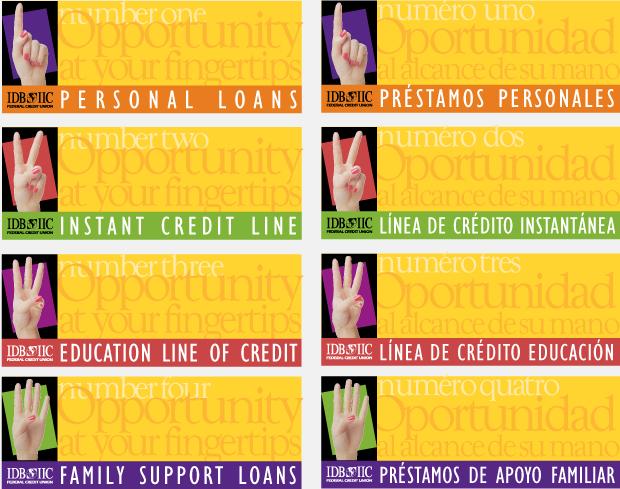 Signage Design / Development - IDB IIC Federal Credit Union