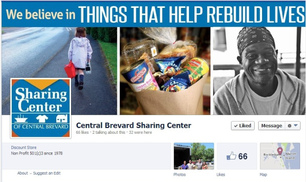 Sharing Center of Central Brevard:  Brand Development / Facebook Design