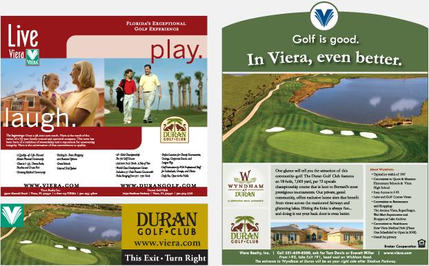 Wyndham and Duran Golf Club Magazine Advertising Campaign