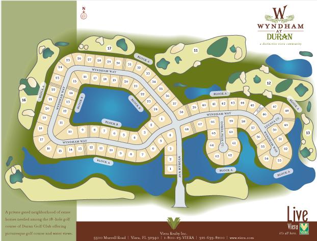 Wyndham and Duran Golf Club sales sheet