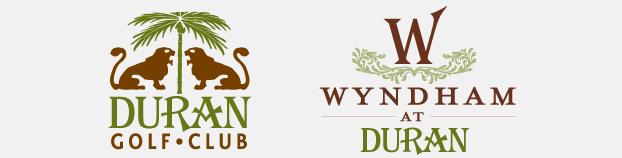 Wyndham and Duran Golf Club logo designs