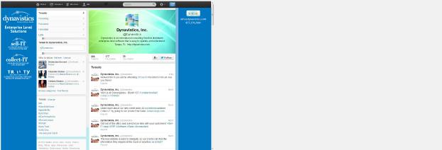 Dynavistics Twitter profile design