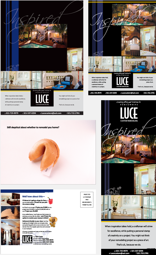 Luce Custom Remodeling Magazine Ads