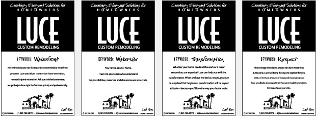 Luce Custom Remodeling Newspaper Ads