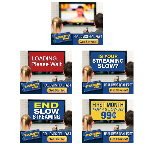 Blockbuster Digital Ad Campaign | Online | Banner Ad Development