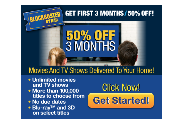 Blockbuster Digital Ad Campaign | Online | Email Ad Development