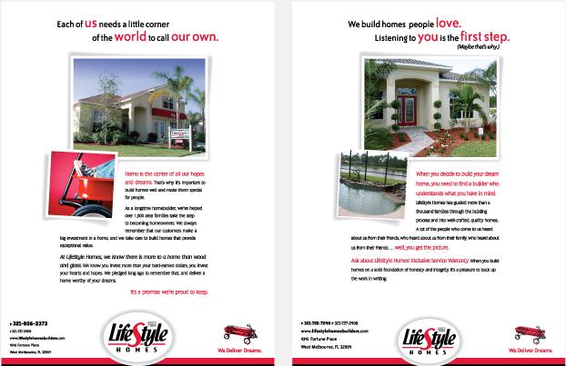 LifeStyle Homes Magazine ad Campaign