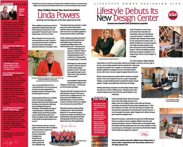 LifeStyle Homes Newsletter Campaign